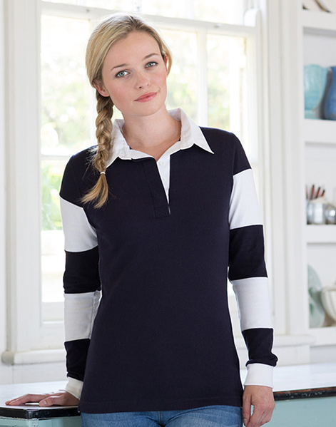 FR103 - Women's striped sleeve rugby shirt