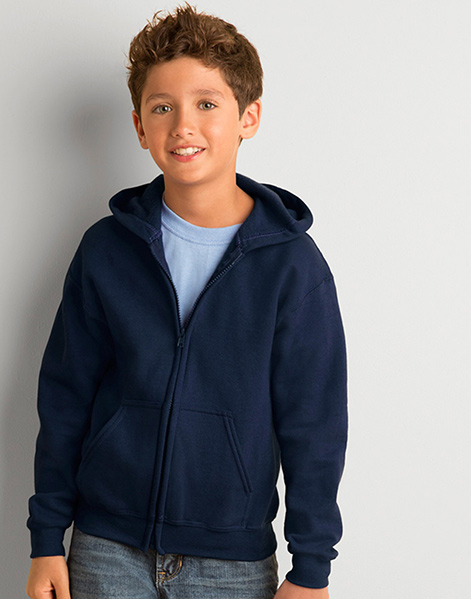 GD58B - Heavy Blend™ youth full zip hooded sweatshirt
