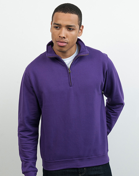 JH046 - Zip Neck Sweatshirt